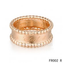 Imitation Van Cleef & Arpels Perlee Signature Ring In Pink Gold
