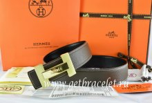 Hermes Reversible Belt Brown/Black Togo Calfskin With 18k Gold Logo H Buckle