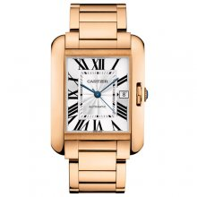 Cartier Tank Anglaise extra large replica watch for men W5310002 18K pink gold
