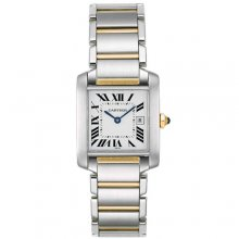 Cartier Tank Francaise medium watch replica W51005Q4 two-tone yellow gold and steel