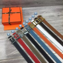 Hermes Reversible Belt Togo Calfskin Without Buckle