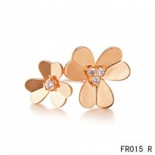 Van Cleef & Arpels Frivole Between the Finger Ring Pink Gold With Diamonds