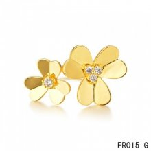 Van Cleef & Arpels Frivole Between the Finger Ring Yellow Gold With Diamonds