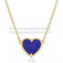 Van Cleef Arpels Sweet Alhambra Heart Pendant Yellow Gold With Lapis Stone Mother Of Pearl