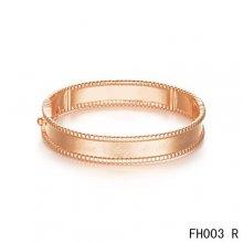 Replica Van Cleef And Arpels Perlee Signature In Pink Gold Bracelet-Medium Model