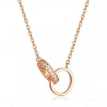 Cartier Love Necklace Pink Gold Rings With Diamonds