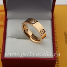 Cheap Cartier Love Ring Pink Gold Diamonds B4087500