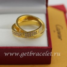 Fake Cartier LOVE Ring Yellow Gold Diamonds