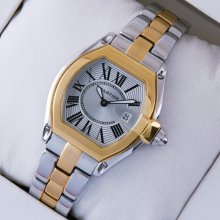 Cartier Roadster small two-tone yellow gold and steel replica watch for women