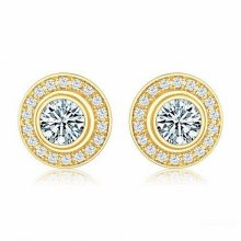 Cartier D'AMOUR Earrings in 18K Yellow Gold with Diamond