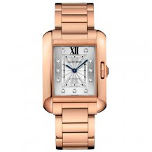 Cartier Tank Anglaise extra large diamond watch for men WJTA0005 18K pink gold
