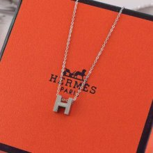 "Hermes ""H"" Necklace White God"