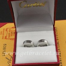Copy Cartier Love Earrings White Gold B8028900