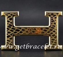 Hermes Reversible Belt 18K Gold Snake Stripe Buckle