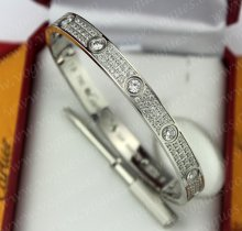 Cartier Love Bracelet Diamond-Paved White Gold Diamonds N6033602