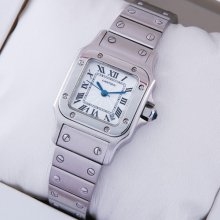 Cartier Santos Galbee stainless steel small watch replica for women