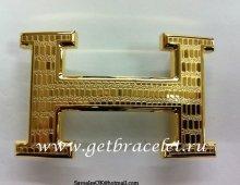 Hermes Reversible Belt 18K Gold Lizards Stripe Buckle