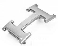 Hermes Reversible Belt 18K Silver Brushed Buckle