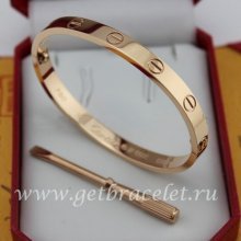 Copy Cartier Love Bracelet Pink Gold B6035616 (New Version - Prevent Screws Fall Out)