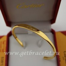 Fake Cartier Yellow Gold Open Bracelet