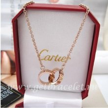 Imitation Cartier Love Necklace Pink Gold B7212300