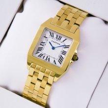 Cartier Santos Demoiselle midsize imitation watch 18K yellow gold