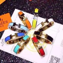 Hermes Clic H Enamel Bracelet Medium With Gold/Silver/Pink Gold