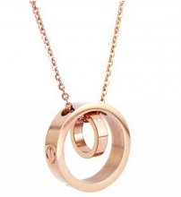 Cartier Love Necklace In 18Kt Pink Gold B7212402