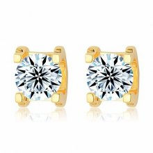 Cartier C DE Earrings in 18K Yellow Gold With 1 Brilliant-Cut Diamond