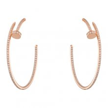 Replica Cartier Juste Un Clou Earring 18K Pink Gold With Diamonds N8515009