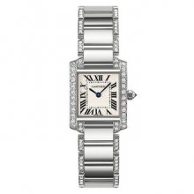 Cartier Tank Francaise diamond swiss watch for women WE1002SF 18K white gold