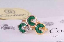 Amulette de Cartier Malachite Ring With Diamond in Yellow Gold, White Gold and Pink Gold
