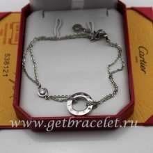 Imitation Cartier Love Necklace White Gold Diamonds B6038100