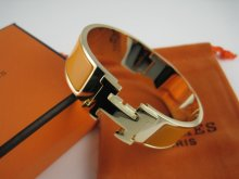 Hermes Yellow Enamel Clic H Bracelet Narrow Width (18mm) In Gold
