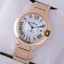 Ballon Bleu de Cartier W69006Z2 large automatic watch replica 18K pink gold