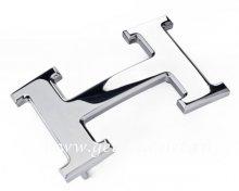 Hermes Reversible Belt 18K Silver Polished Buckle