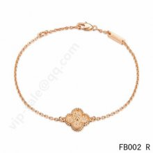 Cheap Van Cleef & Arpels Sweet Alhambra Bracelet In Pink Gold