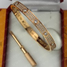 Cartier Love Bracelet Diamond-Paved Pink Gold Diamonds N6036917
