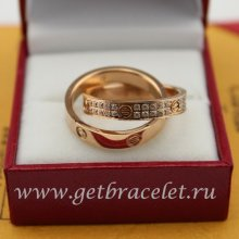Cheap Cartier Love Ring Pink Gold Diamonds
