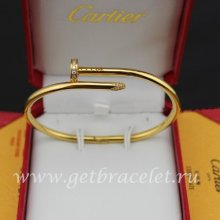 Fake Cartier Juste Un Clou Bracelet Yellow Gold Diamonds