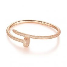 Cartier Juste Un Clou Bracelet Pink Gold, Diamonds