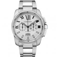 Calibre de Cartier Chronograph imitation watch W7100045 stainless steel