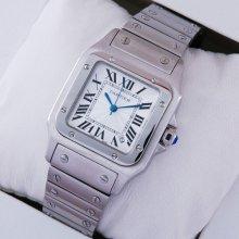 Cartier Santos Galbee stainless steel midsize watch replica for men and women