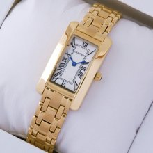 Cartier Tank Americaine small replica watch W26015K2 18K yellow gold