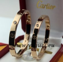Cartier Couple Bracelet Pink Gold 4 Diamonds B6041005 (New Version - Prevent Screws Fall Out)