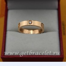 Cheap Cartier Love Pink Gold Ring Diamonds