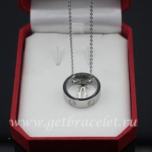 Fake Cartier Love Necklace White Gold 18K