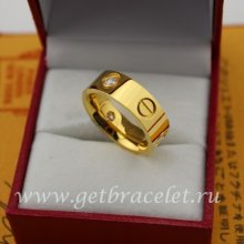 Imitation Cartier Love Ring Yellow Gold Diamonds B4032400