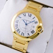 Ballon Bleu de Cartier W69005Z2 large watch replica 18K yellow gold