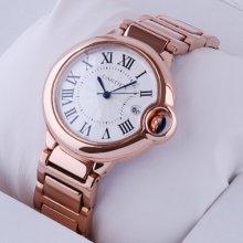 Ballon Bleu de Cartier medium quartz watch replica 18kt pink gold